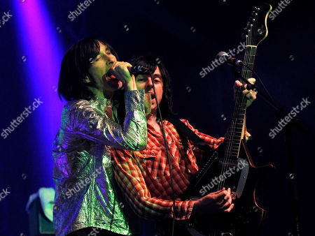 Bobby Gillespie, Barrie Cadogan Lead singer Bobby Gillespie, left, and guitarist Barrie Cadogan performs during the concert of Scottish band Primal Scream, at the Optimus Alive music festival in Lisbon
