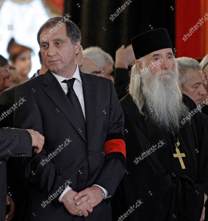 Sergei Shamba Abkhazia's separatist Prime Minister Sergei Shamba, left, stands during a farewell ceremony for Abkhazia's separatist President Sergei Bagapsh in Moscow, Russia, . Bagapsh died in hospital on Sunday, May 29, aged 62