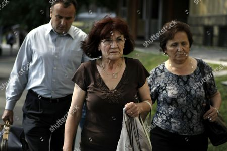 Bosiljka Mladic Bosiljka Mladic, the wife of Ratko Mladic, center, arrives at the Special Court building, followed by unidentified persons, in Belgrade, Serbia, . As he awaited extradition to a UN tribunal, jailed war crimes suspect Ratko Mladic was allowed on Tuesday to visit the grave of his daughter who committed suicide during Bosnia's war
