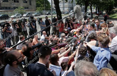 Darko Mladic Darko Mladic, right, son of genocide suspect Ratko Mladic, speaks to media after exiting the Special Court building in Belgrade, Serbia, . Ratko Mladic was arrested on Thursday in a village in Serbia after 16 years on the run