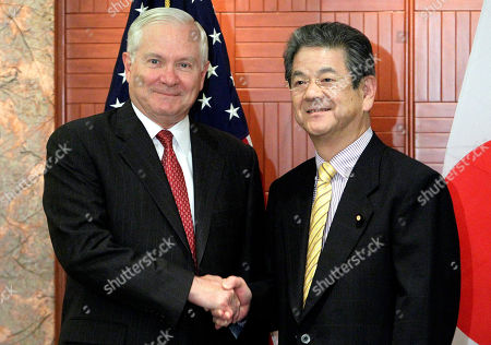 Robert Gates, Toshimi Kitazawa U.S. Secretary of Defense Robert Gates, left, meets with Japan's Defense Minister Toshimi Kitazawa during a bilateral meeting on the sidelines of the IISS Shangri-la Security Summit on in Singapore