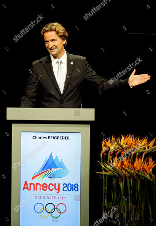 Charles Beigbeder Charles Beigbeder, president of Annecy 2018 speaks during their presentation at the 123rd IOC session in support of Annecy's bid to host the 2018 Winter Games in Durban, South Africa, . The International Olympic Committee will announce the host city for the 2018 Winter Olympics in Durban. The IOC members will choose between three candidates Annecy, France; Munich Germany; and Pyeongchang, South Korea for the 2018 host