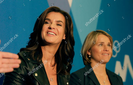 German Olympic champion and former figure skater Katarina Witt, left, during a press conference, with German Paralympic champion and biathlete Verena Bentele, centre, in the city of Durban, South Africa, . Munich has called in German football great Franz Beckenbauer for its final push to host the 2018 Winter Olympics. Munich Bid Committee Chair Katarina Witt says Beckenbauer will arrive in Durban on Tuesday, a day before IOC members vote on whether Munich; Annecy, France; or Pyeongchang, South Korea will stage the games