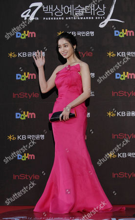 Lee Min-jung South Korean actress Lee Min-jung poses before the Baeksang Arts Awards in Seoul, South Korea, . The Baeksang Arts Awards is a major film and arts awards ceremony in the country