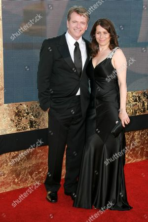 Stock Photo of Aidan Quinn and wife Elizabeth Bracco