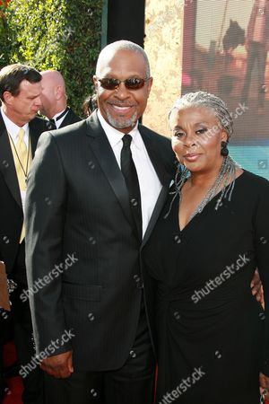 Stock Photo of James Pickens Jr. and Gina Pickens