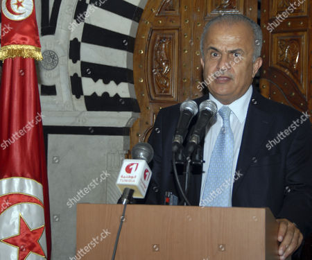 Abdelilah Al Khatib, Beji Caid Essebsi UN special envoy on Libya Abdelilah Al Khatib, delivers a press conference after his meeting with Tunisian Prime Minister Beji Caid Essebsi at the Kasbah Government Palace in Tunis