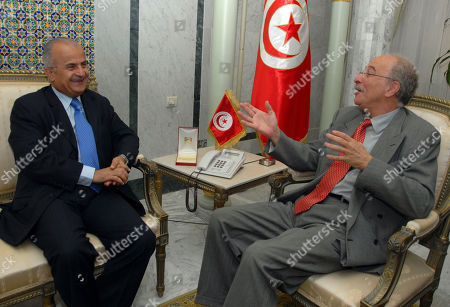 Abdelilah Al Khatib, Mouldi Kafi UN special envoy on Libya Abdelilah Al Khatib, left, listens to Tunisian Foreign Affairs Minister Mouldi Kafi during their meeting in Tunis