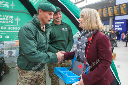 Harriett Baldwin MP Parliamentary Under Secretary of State and Minister for Defence Procurement with Royal Marines