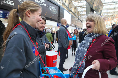 Editorial image of Poppy Appeal launches at Waterloo Station, London, UK - 03 Nov 2016