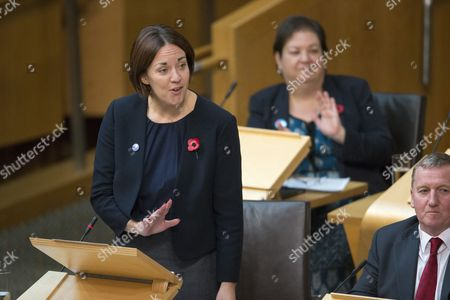 Kezia Dugdale, Leader of the Scottish Labour Party, Jackie Baillie and Alex Rowley, Deputy Leader of the Scottish Labour Party
