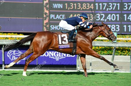 SANTA ANITA. Breeders Cup Juvenile Turf. OSCAR PERFORMANCE and Jose Ortiz wins for trainer Brian Lynch.