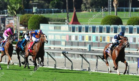 SANTA ANITA. Breeders Cup Juvenile Turf. OSCAR PERFORMANCE and Jose Ortiz wins for trainer Brian Lynch from LANCASTER BOMBER.