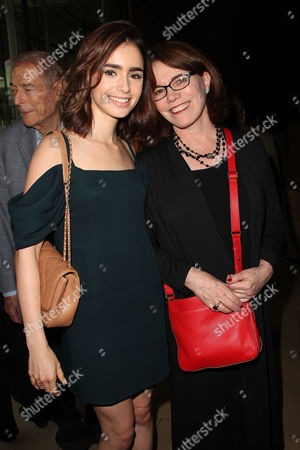 Lily Collins and Lorraine Feather
