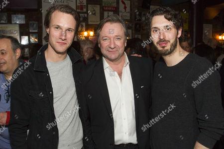 Hugh Skinner, Neil Pearson and Blake Harrison
