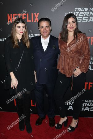 Stock Photo of Dominik Garcia-Lorido, Andy Garcia and Alessandra Garcia-Lorido