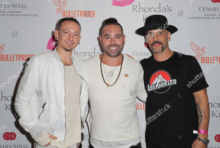 Chester Bennington, Rhonda's Kiss Deputy Director Kyle Stefanski and Dave Kushner