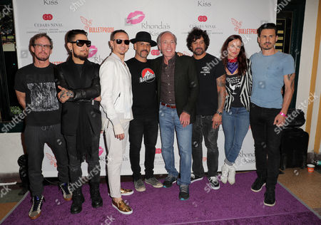 Scott Shriner, Dave Navarro, Chester Bennington, Dave Kushner, Rhonda's Kiss' Founder Marc A. Stefanski, Joey Castillo, Juliette Lewis and Brad Wilk