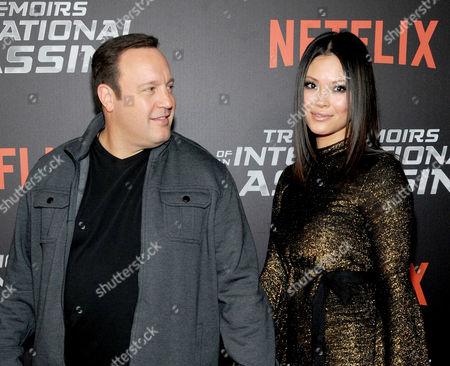 Stock Photo of Kevin James and Steffiana de la Cruz