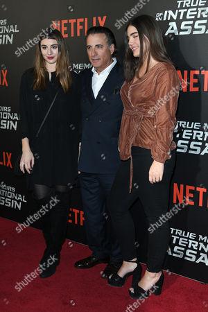 Dominik Garcia-Lorido, Andy Garcia and Alessandra Garcia-Lorido