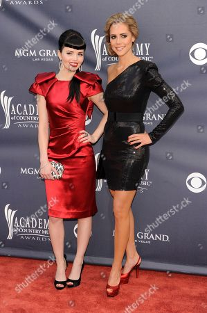 Susie Brown, Danelle Leverett Susie Brown, left, and Danelle Leverett of the JaneDear Girls arrive at the 46th Annual Academy of Country Music Awards in Las Vegas on