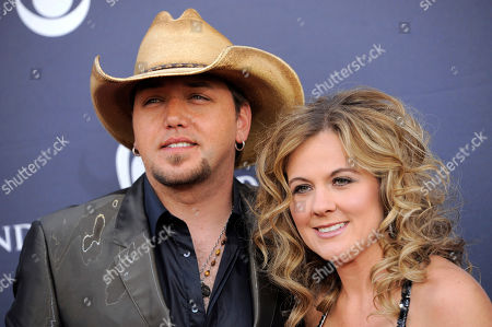 Jason Aldean, Jessica Aldean Jason Aldean, left, and Jessica Aldean arrive at the 46th Annual Academy of Country Music Awards in Las Vegas on
