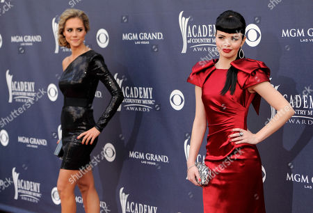 Susie Brown, Danelle Leverett Danelle Leverett, left, and Susie Brown, of the JaneDear Girls arrive at the 46th Annual Academy of Country Music Awards in Las Vegas on