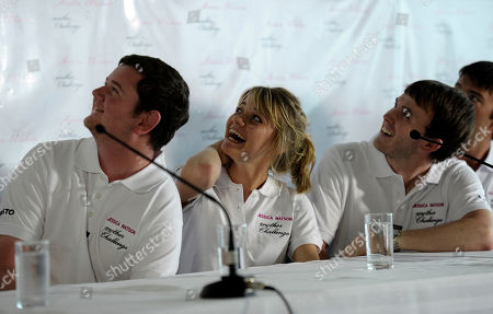 Jessica Watson Teenage round-the-world sailor Jessica Watson, center, laughs while watching the first training day video of her new challenge, in Sydney, Australia . Watson will skipper the youngest crew ever to compete in the annual Sydney to Hobart yacht race in December