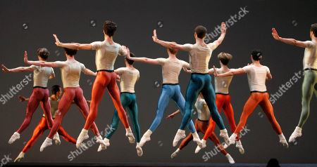 Memers of the state ballet perform during a dress rehearsal at the State Opera in Vienna, on . The Vienna State Ballet is preparing to pay tribute to Jerome Robbins, one of modern ballet's master choreographers. In an interview ahead of the May 3 premiere of an evening in his honor, ballet director Manuel Legris called him a genius