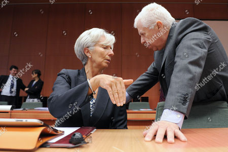 Fernando Teixeira dos Santos, Christine Lagarde Portugal's Finance Minister Fernando Teixeira dos Santos, right, talks with France's Finance Minister Christine Lagarde at the start of an Eurogroup meeting at the EU Council in Brussels, . European finance ministers are meeting over the coming two days in Brussels, with Portugal and Greece topping the agenda
