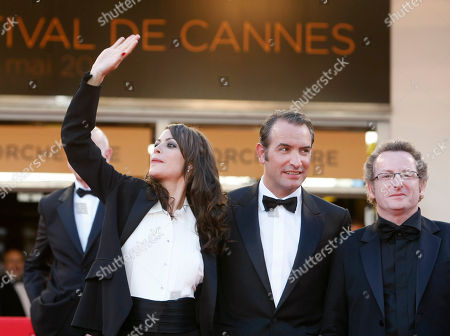 Berenice Bejo, Jean Dujardin, Guillaume Schiffman Actress Berenice Bejo, left, actor Jean Dujardin, centre, and cinematographer Guillaume Schiffman pose on the red carpet for the screening of The Artist at the 64th international film festival, in Cannes, southern France