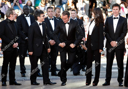 Guillaume Schiffman, Thomas Langmann, Jean Dujardin, Berenice Bejo, Michel Hazanavicius From left, cinematographer Guillaume Schiffman, producer Thomas Langmann, actor Jean Dujardin, Berenice Bejo and director Michel Hazanavicius arrive for the screening of The Artist at the 64th international film festival, in Cannes, southern France