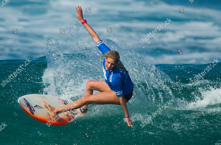 Laura Enever Laura Enever of Australia competes in round three of the Billabong Rio Pro Women's surfing competition in Rio de Janeiro, Brazil