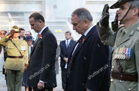 John Key, John Dauth New Zealand's Prime Minister John Key, left, and Australian High Commissioner John Dauth, bow their heads at the Cenotaph in Whitehall during a wreath laying ceremony on ANZAC Day in London, Monday, April, 25, 2011. ANZAC Day is a celebration named for the Australian and New Zealand Army Corps who served in the nations' famous defeat at the battle of Gallipoli. More than 11,000 Australian and New Zealand troops died at Gallipoli, a futile effort by British Commonwealth forces to invade Turkey during World War I