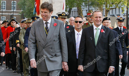 John Key, John Dauth New Zealand's Prime Minister John Key, front right, leaves the Cenotaph in Whitehall following a wreath laying ceremony on ANZAC Day in London, Monday, April, 25, 2011. ANZAC Day is a celebration named for the Australian and New Zealand Army Corps who served in the nations' famous defeat at the battle of Gallipoli. More than 11,000 Australian and New Zealand troops died at Gallipoli, a futile effort by British Commonwealth forces to invade Turkey during World War I