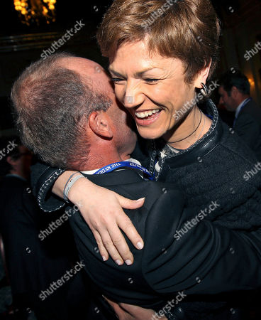 Thomas Levet, Chantal Jouanno France's Thomas Levet, left, hugs French Minister of Sport Chantal Jouanno at the Wentworth Club, Virginia Water, England, after the announcement of the venue for the 2018 Ryder Cup. France will host the Ryder Cup for the first time in 2018 on Le Golf National course near Paris. The French bid beat off competition from rival candidates Spain, Portugal, Germany and the Netherlands on Tuesday