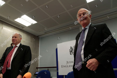 Igor Judge, David Neuberger Britain's Lord Chief Justice Igor Judge, right, and Lord David Neuberger, left, the Master of the Rolls, arrive for a joint news conference at the Royal Court of Justice, in central London, . Judge, the top judge in England and Wales said Friday, that members of Parliament should think carefully about using their position to circumvent court orders restraining media, introducing a lengthy review of privacy legislation and the use of court orders to silence news reporting