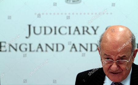 Igor Judge Britain's Lord Chief Justice Igor Judge answers a reporter's question during a news conference at the Royal Court of Justice, in central London, . Judge, the top judge in England and Wales said Friday, that members of Parliament should think carefully about using their position to circumvent court orders restraining media, introducing a lengthy review of privacy legislation and the use of court orders to silence news reporting