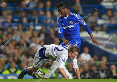 John Obi Mikel, Alexander Hleb Chelsea's John Obi Mikel, right, competes with Birmingham City's Alexander Hleb during their English Premier League soccer match at Stamford Bridge, London, . (AP Photo/Sang Tan) NO INTERNET/MOBILE USAGE WITHOUT FOOTBALL ASSOCIATION PREMIER LEAGUE (FAPL) LICENCE - CALL +44