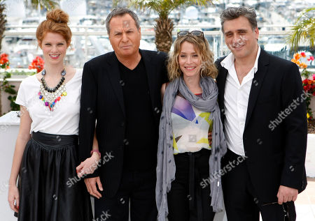 Yuval Scharf, Shlomo Bar-Aba, Alma Zak, Lior Ashkenazi Actors from left, Yuval Scharf, Shlomo Bar-Aba, Alma Zak and Lior Ashkenazi pose during a photo call for Footnote at the 64th international film festival, in Cannes, southern France