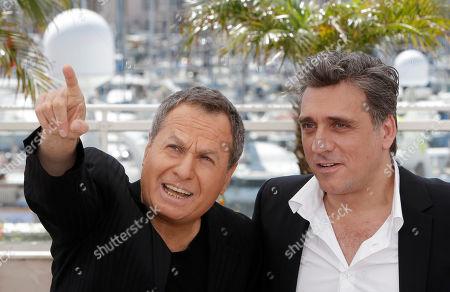 Shlomo Bar-Aba, Lior Ashkenazi Actors Shlomo Bar-Aba, left, and Lior Ashkenazi pose during a photo call for Footnote at the 64th international film festival, in Cannes, southern France