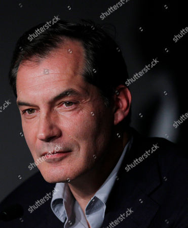 Samuel Labarthe Actor Samuel Labarthe poses during a press conference for La Conquete, at the 64th international film festival, in Cannes, southern France