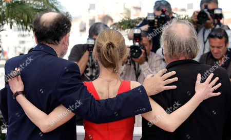 Jean-Pierre Darroussin, Kati Outinen, Blondin Miguel From left, actors Jean-Pierre Darroussin, Kati Outinen and Blondin Miguel pose during a photo call for Le Havre, at the 64th international film festival, in Cannes, southern France