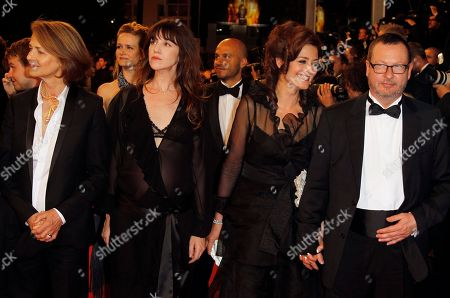 Lars Von Trier, Bente Froge, Charlotte Gainsbourg, Charlotte Rampling From right, director Lars Von Trier, his wife Bente Froge and actresses Charlotte Gainsbourg and Charlotte Rampling arrive for the screening of Melancholia at the 64th international film festival, in Cannes, southern France