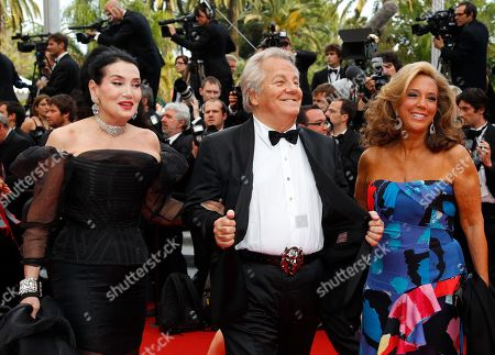 Lamia Khashoggi, Massimo Gargia, Denise Rich From left, Lamia Khashoggi, Massimo Gargia and Denise Rich arrive at the screening of Midnight in Paris and the opening ceremony, at the 64th international film festival, in Cannes, southern France