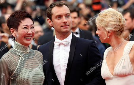 Nansun Shi, Jude Law, Linn Ullmann Jury members Nansun Shi, left, Jude Law, centre, and Linn Ullmann, right arrive for the screening of Pirates of the Caribbean: On Stranger Tides, at the 64th international film festival, in Cannes, southern France