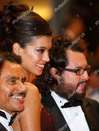 Noe Hernandez, Stephanie Sigman, Pablo Cruz From left, actor Noe Hernandez, actress Stephanie Sigman and producer Pablo Cruz arrive for the screening of Polisse at the 64th international film festival, in Cannes, southern France