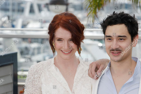 Bryce Dallas Howard, Jason Lew Producer Bryce Dallas Howard, left, and screenwriter Jason Lew pose during a photo call for Restless, at the 64th international film festival, in Cannes, southern France