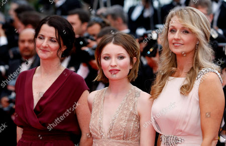 Emily Browning, Julia Leigh, Rachael Blake From left, director Julia Leigh, actress Emily Browning and actress Rachael Blake arrive for the screening of Sleeping Beauty at the 64th international film festival, in Cannes, southern France