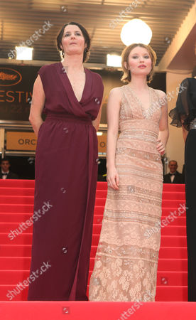 Emily Browning, Julia Leigh, Rachael Blake, guest From left, director Julia Leigh, actress Emily Browning, a unidentified guest and actress Rachael Blake arrive for the screening of Sleeping Beauty at the 64th international film festival, in Cannes, southern France